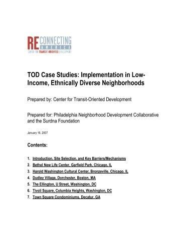 TOD Case Studies - Center for Transit-Oriented Development