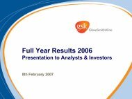 Key Corporate Communications Opportunities 03/04 An outline ...