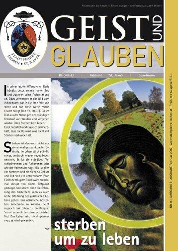 GEIST und GLAUBEN, Februar 2007 - Montanuniversität Leoben