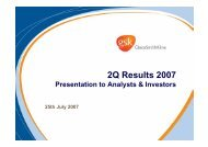 Full Year Results 2006 Presentation to Analysts & Investors