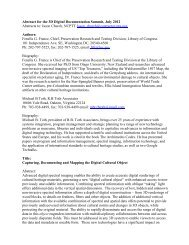 Abstract for the 3D Digital Documentation Summit, July 2012 ...