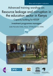 Resource leakage and corruption in the education ... - IIEP - Unesco
