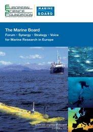 The Marine Board - European Science Foundation