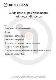 Guida base al posizionamento nei motori di ricerca - Sguassero.eu