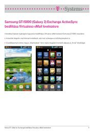 Samsung GT-I5800 (Galaxy 3) Exchange ActiveSync ... - T-Systems