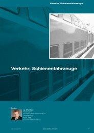 Verkehr, Schienenfahrzeuge - Quality Austria