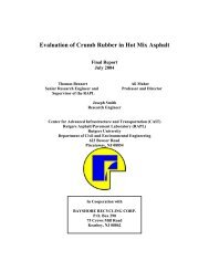 Evaluation of Crumb Rubber in Hot Mix Asphalt - National ...