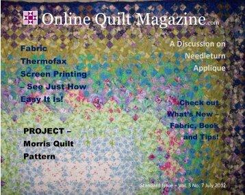 A Discussion on Needleturn Applique - Online Quilt Magazine.com
