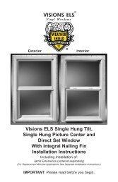 Visions ELS Single Hung Windows - Home Doors & Windows