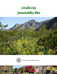 Sustainability Plan - City of El Paso