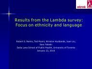 Results from the Lambda survey - Ontario HIV Epidemiologic ...