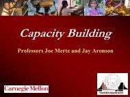 Capacity building I - TechBridgeWorld