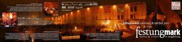 höhepunkte sommer & herbst 2011 - Kultur + Kommunikation Mirko ...