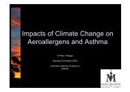 Impacts of Climate Change on Aeroallergens and Asthma