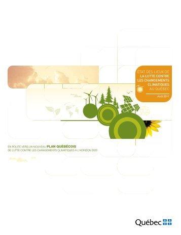 État des lieux de la lutte contre les changements climatiques au ...