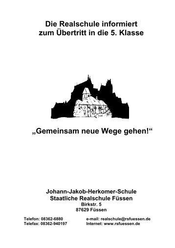 Anmeldung - Internetauftritt der Realschule Füssen