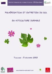 pulvérisation et entretien du sol en viticulture durable - IFV Sud-Ouest