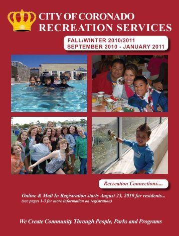 RECREATION SERVICES - City of Coronado