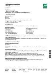 Fernabsatz-Information VL Sparen - PSD Bank Hannover eG