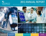 2012 ANNUAL REPORT - Foundation for Physical Therapy