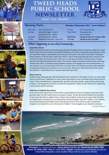 07 Newsletter Term 4 Week 5 05.11.12 Week 45 [pdf, 3 MB]