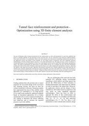 Tunnel face reinforcement and protection - Optimization ... - Kivi Niria
