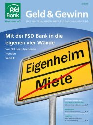Geld & Gewinn - PSD Bank Hannover eG