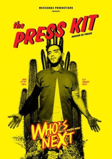 télécharger le dossier de presse (.pdf) - Who's Next