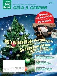 geld & gewinn 3/2011 - PSD Bank Kiel eG