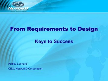From Requirements to Design