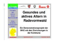 Gesundes und aktives Altern in Radevormwald - Aktiv55Plus