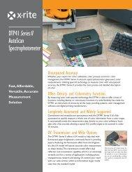 DTP41 Spectrophotometer Brochure - X-Rite