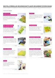 Bestell-Formular für Broschüren, Flyer und Give-aways (PDF)