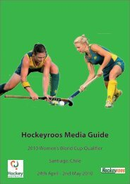 Hockeyroos Media Guide - SportingPulse