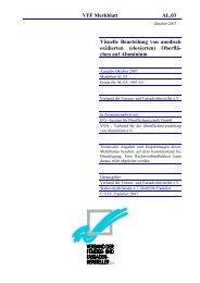 VFF Merkblatt AL.03 - Verband der Fenster