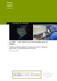 Le CEA : « De l'atome aux technologies pour la santé »