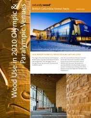 W ood Use in 2010 Olympic & Paralympic Venues - Naturally:wood