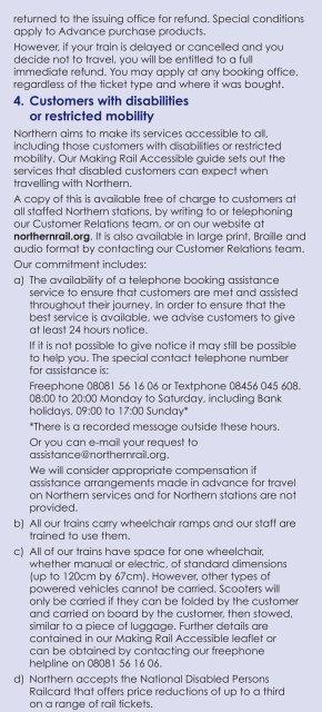 Passenger's Charter - Northern Rail