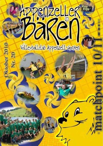 Ausgabe 2010/11 - bei den Appenzeller Bären