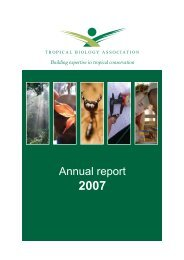 Annual report - Tropical Biology Association