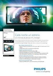 Leaflet 56PFL9954H_12 Released Spain (Spanish ... - Supersonido