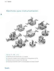 Manifolds para Instrumentación: Series V, VB y VL (MS ... - Swagelok