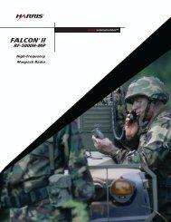 FALCON II RF-5800H-MP High-Frequency Manpack Radio Brochure