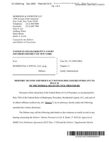 Plaintiff's Initial Disclosures Pursuant To Rule 26(A)(1 ...