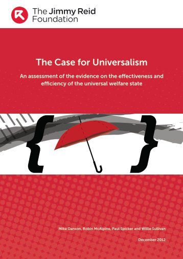 The Case for Universalism - Social Welfare Portal