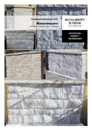 Produktkatalog Mauersteine - Schubert Steinzentrum GmbH