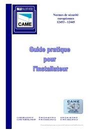 Guide pratique pour l'installateur - Came