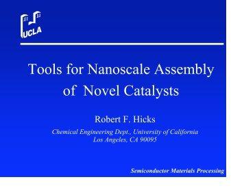Robert Hicks - Department of Chemical Engineering