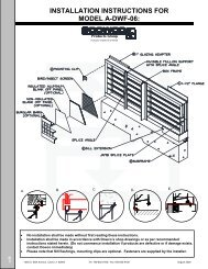 INSTALLATION INSTRUCTIONS FOR MODEL A ... - Safe-Air Dowco