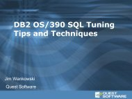 DB2 OS/390 SQL Tuning Tips and Techniques - Quest Software